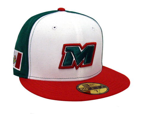 Mexico Fitted New Era 59Fifty 2017 Serie Del Caribe Cap Hat Tri Color