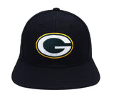 Green Bay Packers Snapback Vintage Logo Cap Hat Black