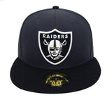 Oakland Raiders Fitted New Era 59Fifty Logo Cap Hat Charcoal Black