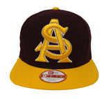 Arizona State Sun Devils Snapback New Era Grand Redux Cap Hat Burgundy Yellow
