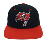 Tampa Bay Buccaneers Snapback Retro Vintage Logo Cap Hat Black Red