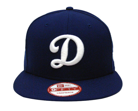 Los Angeles Dodgers Snapback New Era Big D LA on Back Cap Hat Blue