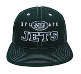 New York Jets Snapback Retro Vintage Block Cap Hat Green