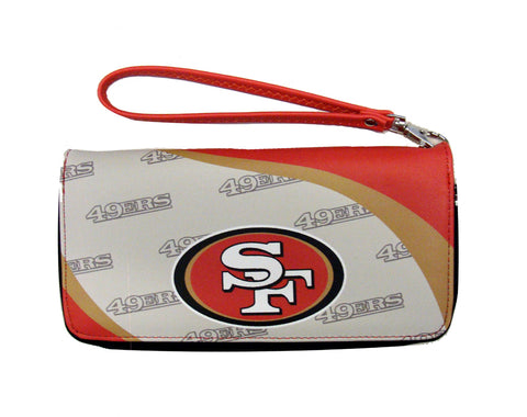 San Francisco 49ers Womens Wallet Curve Zip Organizer
