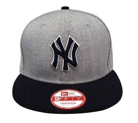 New York Yankees Snapback New Era Bind Back Cap Hat Wool Navy