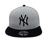 New York Yankees Snapback New Era Logo Cap Hat Grey Navy