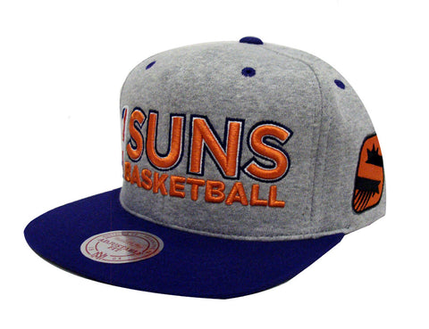 Phoenix Suns Snapback Mitchell & Ness Heather Jersey Cap Grey Purple