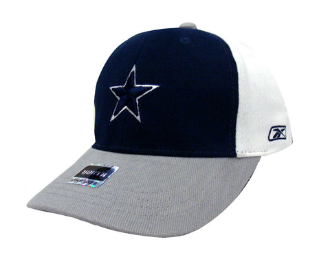 Dallas Cowboys Reebok Toddler Logo Cap Hat Adjustable Tri Color White Navy Grey