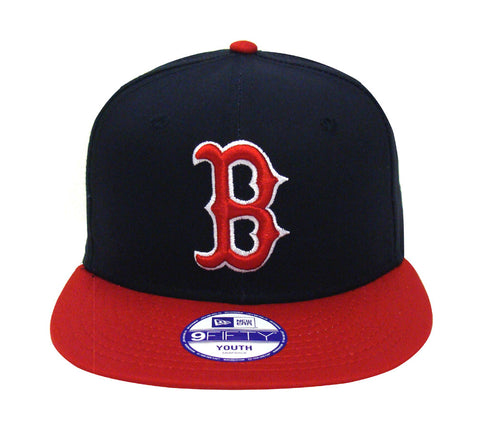Boston Red Sox Snapback Youth New Era Basic Logo Cap Hat Navy Red