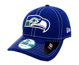 Seattle Seahawks Snapback New Era 9Forty 4th Down Cap Hat Blue