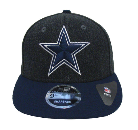 Dallas Cowboys Snapback New Era Classic Trim Cap Hat Charcoal Navy