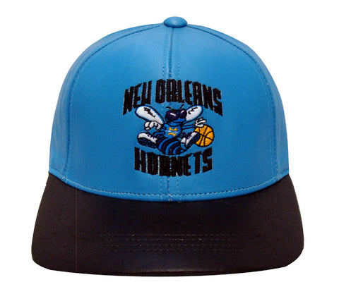 New Orleans Hornets Snapback Retro Vintage Name & Logo Cap Hat Teal Black