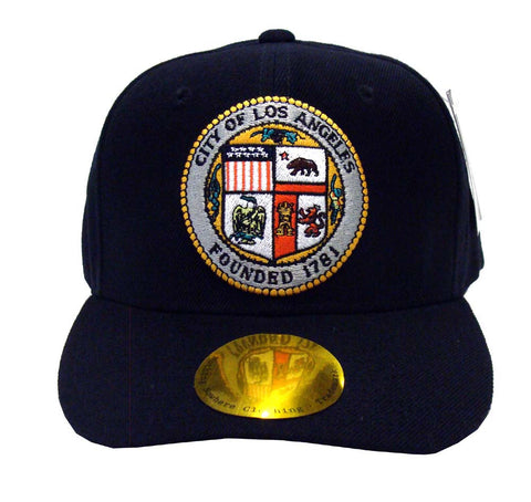 City of Los Angeles Snapback Seal Cap Hat Black
