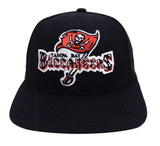 Tampa Bay Buccaneers Snapback Retro Vintage Name & Logo Cap Hat Black