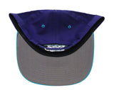 New Orleans Hornets Snapback Retro Vintage Name & Logo Cap Hat Purple Teal