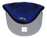Los Angeles Rams Fitted Kids New Era 59Fifty Yellow Script Cap Hat Blue