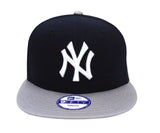 New York Yankees Snapback Youth New Era Basic Logo Cap Hat Navy Grey