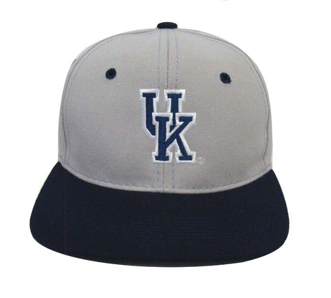 University of Kentucky Snapback Retro Vintage Logo Cap Hat Grey Navy