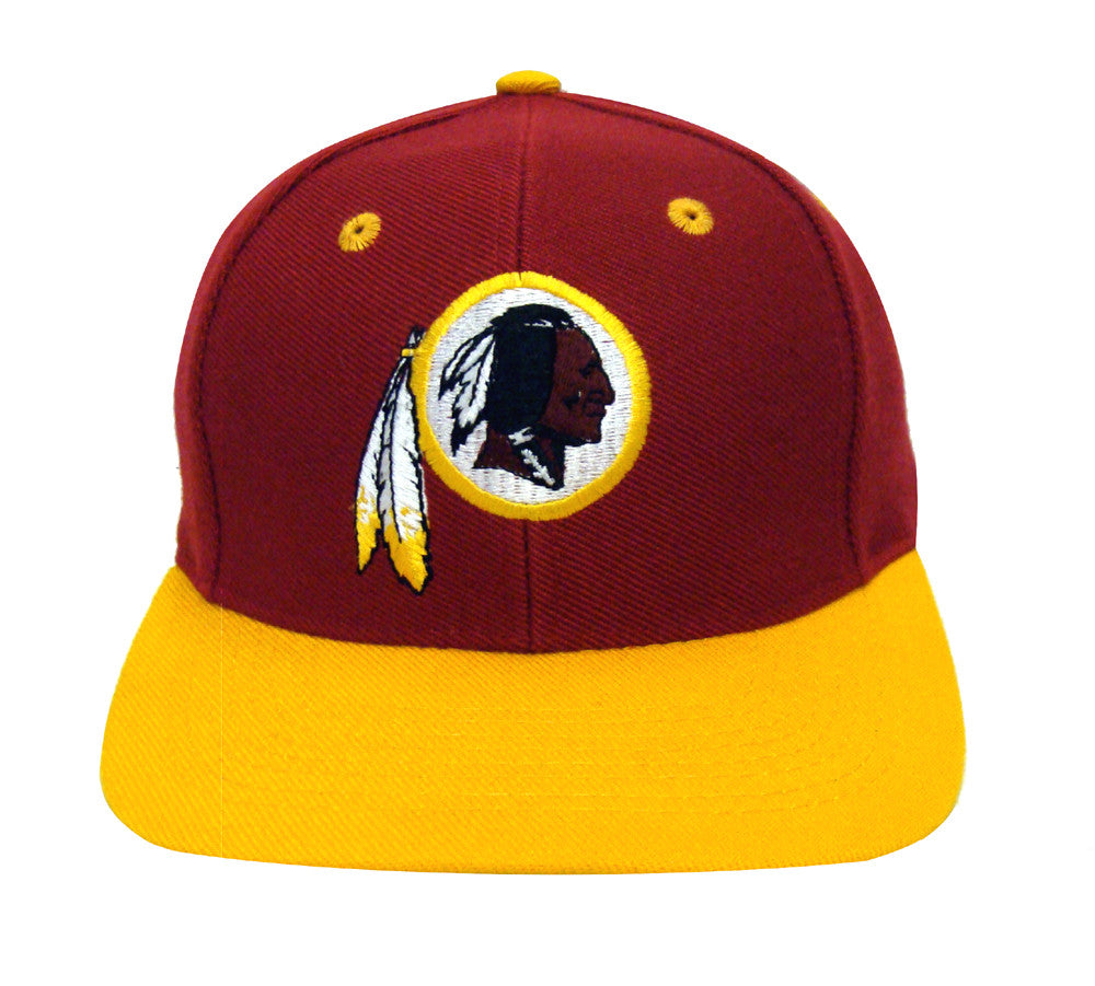 db3ac56fa8fbbf Washington Redskins Snapback Retro Vintage Logo Cap Hat Burgundy Yellow