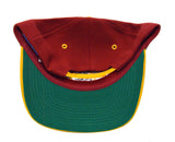 Washington Redskins Snapback Retro Vintage Logo Cap Hat Burgundy Yellow