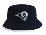 Los Angeles Rams Bucket Kids (4-7) Logo Hat Navy White