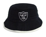 Oakland Raiders Bucket Kids (4-7) Logo Hat Black Grey