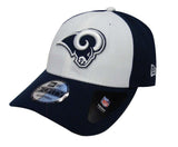 Los Angeles Rams Adjustable New Era The League Blocked Cap Hat Navy White