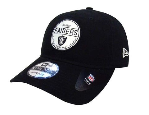 Oakland Raiders Strapback New Era Core Standard Adjustable Cap Hat Black