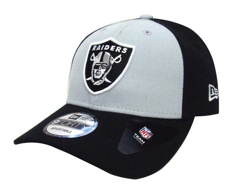 Oakland Raiders Adjustable New Era The League Blocked Cap Hat Black Grey 5baca70d0