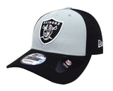 Oakland Raiders Adjustable New Era The League Blocked Cap Hat Black Grey