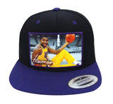 Heisman Legends Snapback Magic Johnson Cap Hat Black Purple