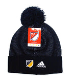 Los Angeles Galaxy Beanie Adidas 2017 Authentic Cuffed Knit Pom Cap Navy
