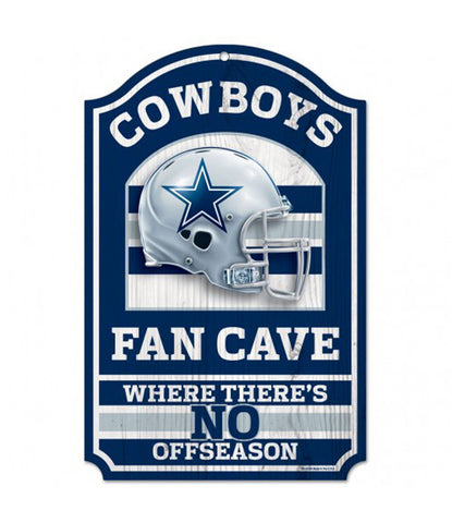 "Dallas Cowboys Fan Cave 11"" X 17"" Wood Sign"