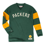 Green Bay Packers Mens Mitchell & Ness Field Goal Long Sleeve Shirt Green 3X-Large