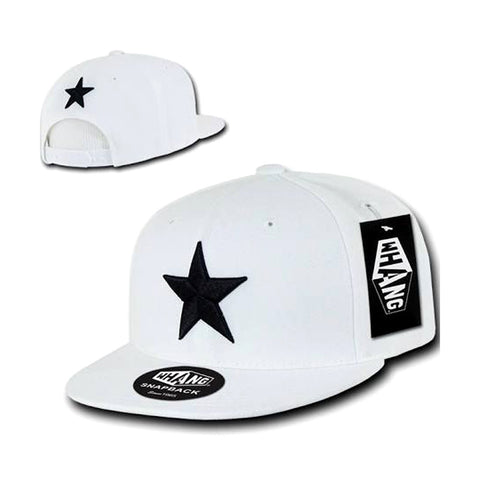 Whang Black Star Snapback Cap Hat White