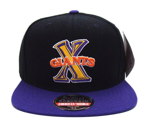 Cuban X-Giants Snapback AN Negro League Retro Replica Wool Cap Hat Black Purple