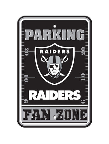 "Oakland Raiders Plastic 12""x18"" Team Fan Zone Parking Sign"
