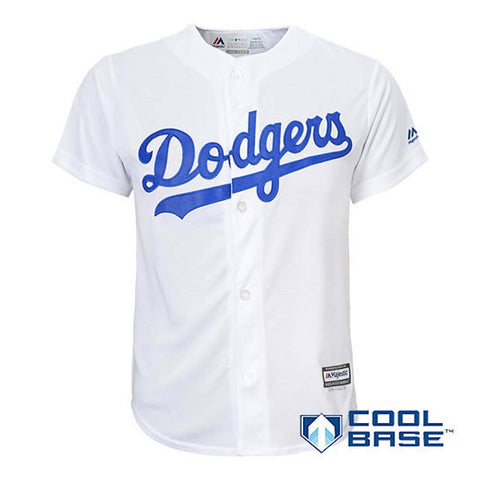 Los Angeles Dodgers Kids (4-7) Jersey Majestic Replica Cool Base White Jersey