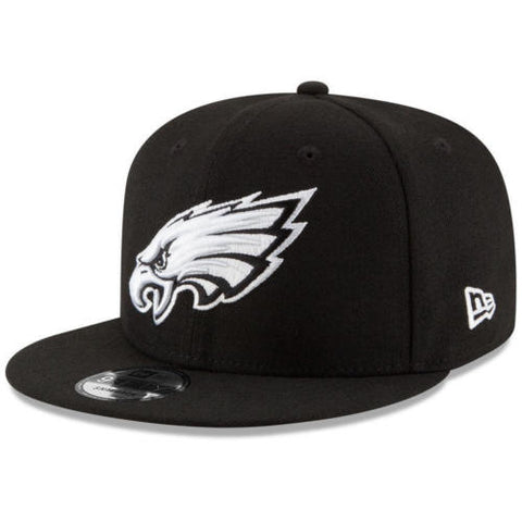 Philadelphia Eagles New Era Snapback Black White Hat Cap