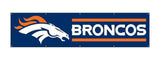 Denver Broncos 8ft X 2ft Nylon Banner