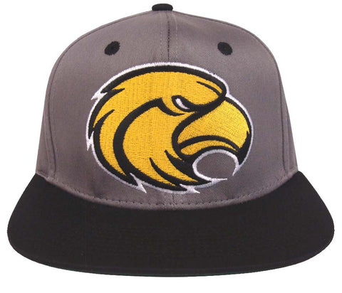 Southern Mississippi Golden Eagles Snapback Logo Retro Cap Hat Grey Black