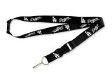Los Angeles Dodgers Badge Lanyard Tickets Holder Keychain Black