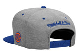New York Knicks Snapback Mitchell & Ness Heather Jersey Cap Grey Blue
