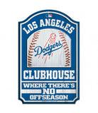 "Los Angeles Dodgers Bar Home Decor Clubhouse 11"" X 17"" Wood Sign"