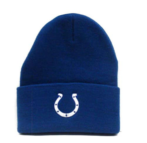 Indianapolis Colts Embroidered Fold Beanie ski cap
