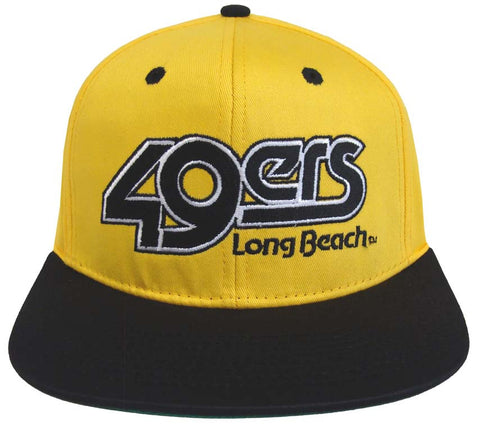 Cal State Long Beach Snapback Block Retro Cap Hat 2 Tone YB
