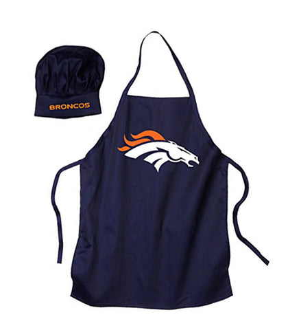 Denver Broncos Team Apron & Chef Hat Navy