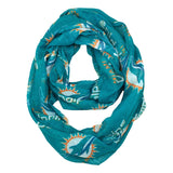 Miami Dolphins Little Earth Productions Sheer Infinity Scarf Teal