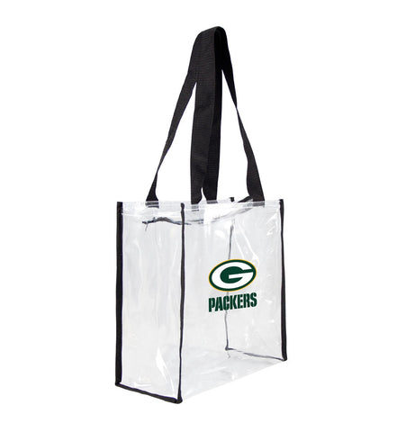 Green Bay Packers Clear Square Stadium Tote Bag