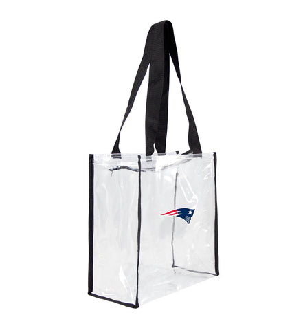 New England Patriots Clear Square Stadium Tote Bag